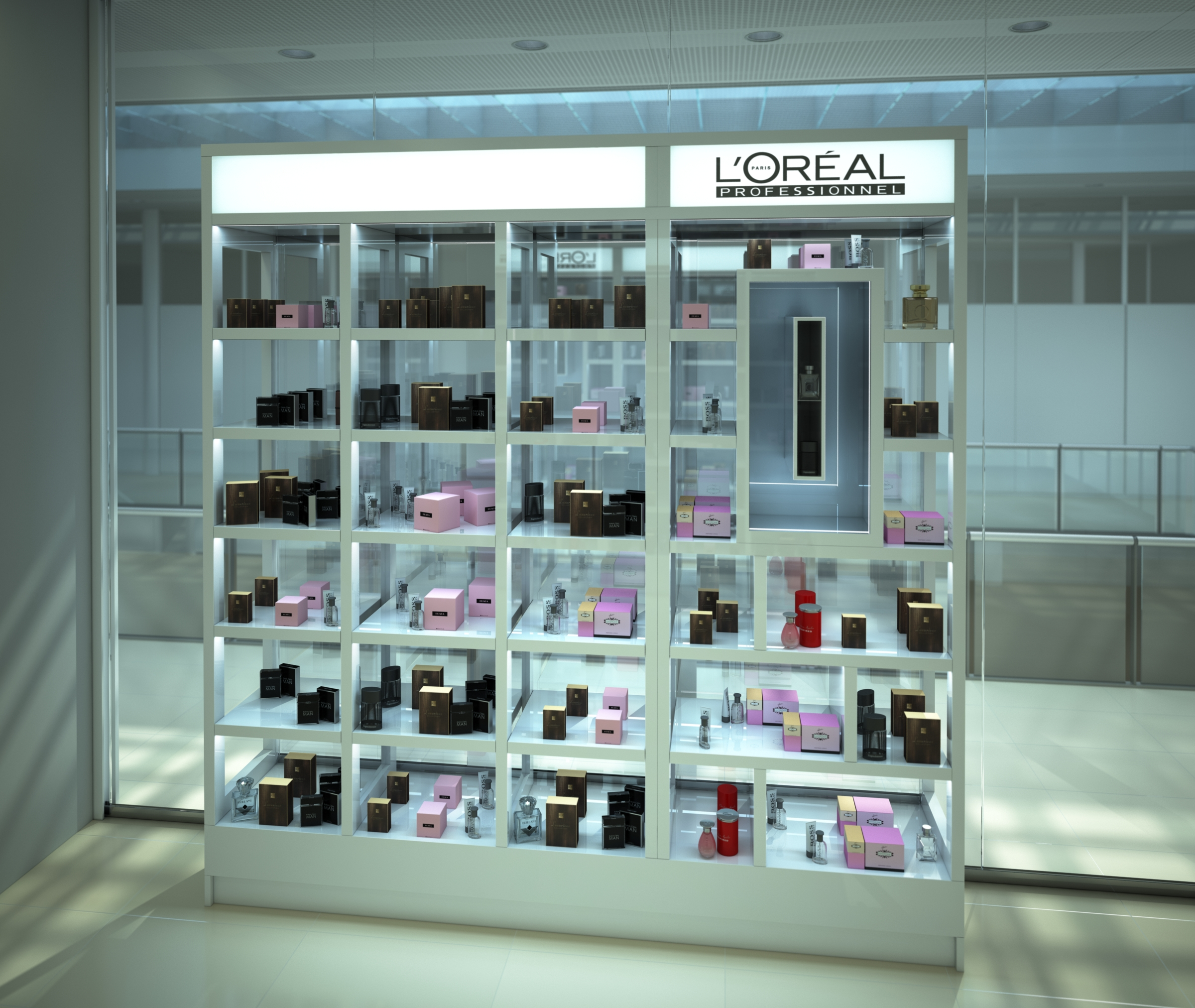 L oreal professionnel shop window archi 3d london for Home design virtual reality